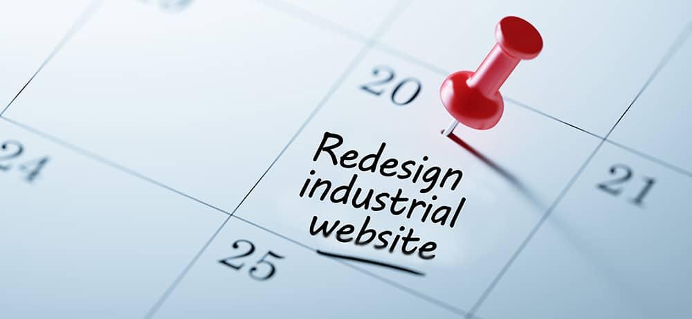 industrial website redesign